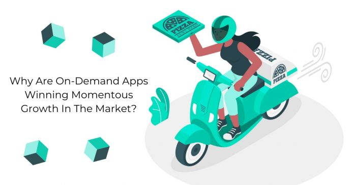 On-demand apps growth in market